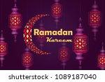 ramadan kareem. banner. vector... | Shutterstock .eps vector #1089187040