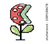 pixel videogame bad plant... | Shutterstock .eps vector #1089188678