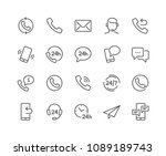 simple set of processing... | Shutterstock .eps vector #1089189743
