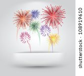 fireworks coming out of paper... | Shutterstock .eps vector #108919610