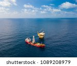 soil boring boat  a... | Shutterstock . vector #1089208979
