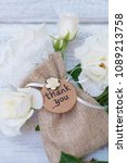 wedding favor and flowers  | Shutterstock . vector #1089213758