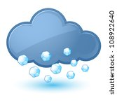 Single weather icon - Cloud with Hail. Illustration on white - stock vector