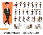 set of business people wearing... | Shutterstock .eps vector #1089228686