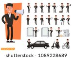 set of business people wearing... | Shutterstock .eps vector #1089228689