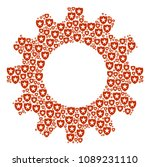 vector guard icons are composed ... | Shutterstock .eps vector #1089231110