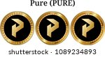 set of physical golden coin... | Shutterstock .eps vector #1089234893
