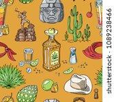 tequila shot vector mexican... | Shutterstock .eps vector #1089238466