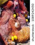 multi colored nylon fishing... | Shutterstock . vector #1089242450