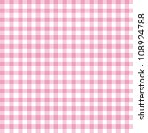 A Pastel Pink Gingham Fabric...