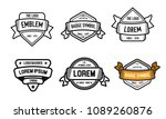 badge custom logo badges | Shutterstock .eps vector #1089260876