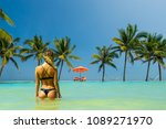 woman in luxury five stars  spa ... | Shutterstock . vector #1089271970