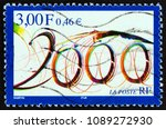 france   circa 1999  a stamp... | Shutterstock . vector #1089272930