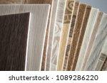 linoleum samples on white... | Shutterstock . vector #1089286220