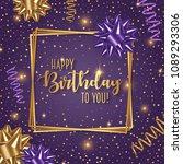 happy birthday vector... | Shutterstock .eps vector #1089293306