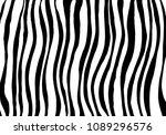 zebra print  animal skin  tiger ... | Shutterstock .eps vector #1089296576