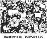 black and white illustration of ...   Shutterstock .eps vector #1089296660