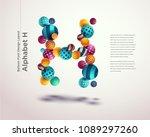 alphabet ball font design... | Shutterstock .eps vector #1089297260
