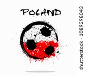 abstract soccer ball painted in ...   Shutterstock .eps vector #1089298043