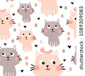 vector seamless pattern with... | Shutterstock .eps vector #1089309083