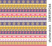 vector seamless pattern with... | Shutterstock .eps vector #1089309266