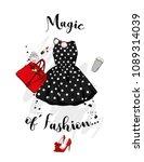 a set of fashionable women's... | Shutterstock .eps vector #1089314039