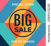 sale banner design template.... | Shutterstock .eps vector #1089315230