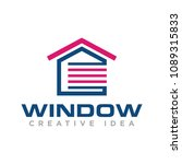 window logo vector | Shutterstock .eps vector #1089315833