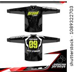 long sleeve motocross jerseys t ... | Shutterstock .eps vector #1089322703