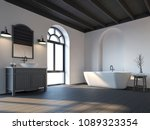 scandinavian bathroom with... | Shutterstock . vector #1089323354