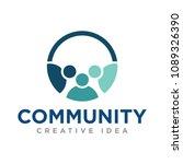 community logo vector | Shutterstock .eps vector #1089326390