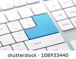 keyboard with blue blank enter... | Shutterstock . vector #108933440