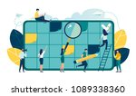 vector illustration  whiteboard ... | Shutterstock .eps vector #1089338360