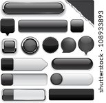 blank black web buttons for... | Shutterstock .eps vector #108933893