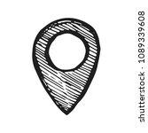 location icon vector sketch....