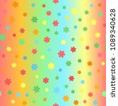 summer flower pattern. seamless ...   Shutterstock .eps vector #1089340628