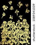 Gold Japanese Iris Flower...