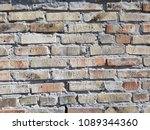 empty old brick wall texture.... | Shutterstock . vector #1089344360