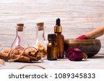 tibetan singing bowl spa set... | Shutterstock . vector #1089345833