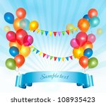 happy birthday background with... | Shutterstock .eps vector #108935423