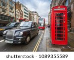 london  england   iconic red... | Shutterstock . vector #1089355589