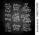 collection of hand written... | Shutterstock . vector #1089371900
