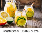 a refreshing summer ice cold... | Shutterstock . vector #1089373496