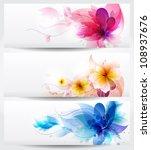 flower  background brochure... | Shutterstock . vector #108937676
