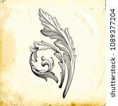 retro baroque decorations... | Shutterstock .eps vector #1089377204
