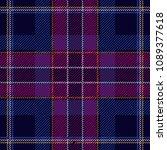 dark checkered textile print. ... | Shutterstock .eps vector #1089377618