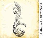 retro baroque decorations... | Shutterstock .eps vector #1089377654