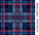 dark checkered textile print. ... | Shutterstock .eps vector #1089378488