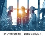 business people work together... | Shutterstock . vector #1089385334