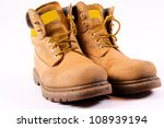 Dirty Working Boots Isolated O...